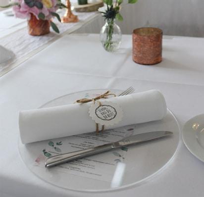 Hochzeitsmenü in Edelrustikal - Goldscheune