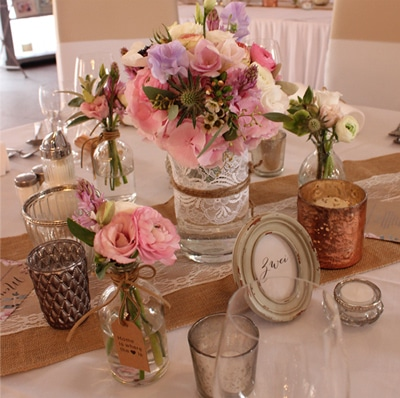 Vintage Hochzeitsdekoration Wulfsmühle