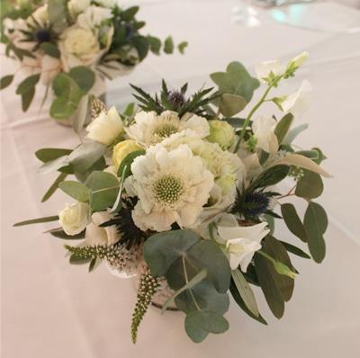 Hochzeitsblumen in Greenery