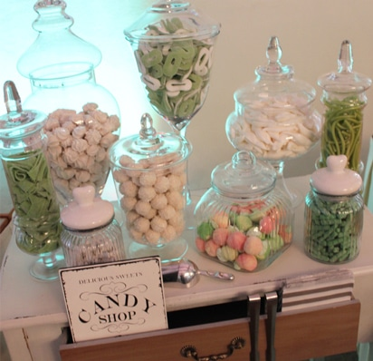Candybar in Greenery