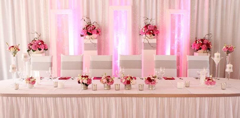 Hochzeitdeko modern in pink
