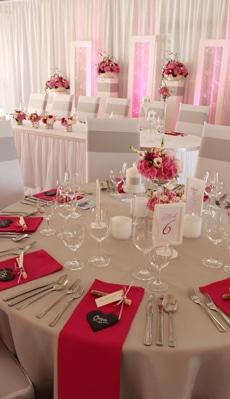 Tischdeko modern in pink