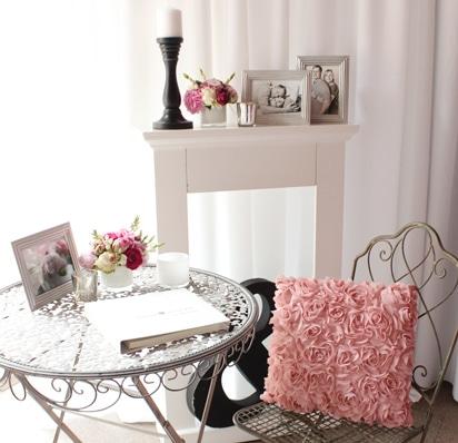 Gästebuchecke modern in pink