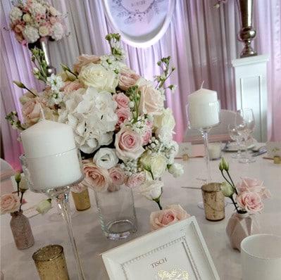 Hochzeitsdeko Romatisch
